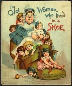 "1900 ""THE OLD WOMEN WHO LIVED IN A SHOE""  Tuck's NURSERYLAND SERIES"