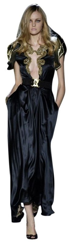 Roberto Cavalli Black 2006 Gold Dragon Red Carpet Couture Evening Gown 4 6 S Dress. Free shipping and guaranteed authenticity on Roberto Cavalli Black 2006 Gold Dragon Red Carpet Couture Evening Gown 4 6 S DressStun the crowd in this floor-length gown from Robe...