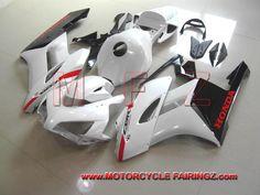 2004 2005 HONDA CBR 1000 RR Fairing Kit Pearl White And Black FFKHD019