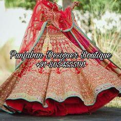 Buy Wedding Lehenga For Bride USA | Punjaban Designer Boutique