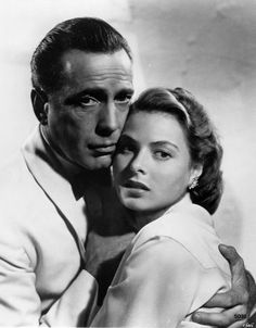 "Casablanca 1942  ""Here's lookin at you kid.""  Humphery Bogart to Ingrid Bergman"
