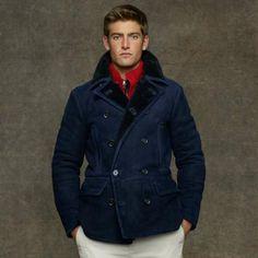 Love the Ralph Lauren Shearling Pea Coat on Wantering.