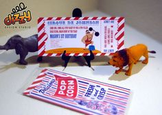 Carnival Circus Strong Man Invitations - For Birthdays and Showers (Set of 10). $21.50, via Etsy.
