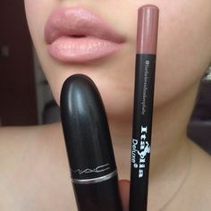 """#Italia """"Natural Beige"""" lipliner with my #MAC """"Japanese Maple"""" lipstick. This lipstick will compliment pretty much every skin tone! Definitely one of my must haves!"""