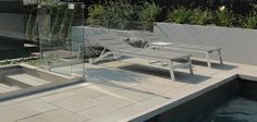 contemporary pool decks | Modern Pool Deck Tiles