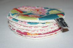 Disques à démaquiller lavables en Coton Bio imprimé fleurs : Soin, bien-être par kumoandfriends. Kumoandfriends.ALittleMarket.com