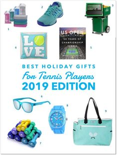 """The holidays are on the way! That means it's time for my """"Best Holiday Gifts for Tennis Players"""" gift guide! Each year, I do a gift guide packed with super fun things that yo… Holiday Fun, Holiday Gifts, Best Friend Christmas Gifts, I Am Awesome, Awesome Gifts, Tennis Players, Your Child, Gifts For Him, Gift Guide"""