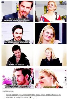 Heheh, this is why I adore Jennifer Morrison. But it's also kinda funny that Colin's keeping a straight face.: