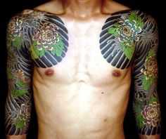 Japanese sleeves and chest plate, by Master Horitoshi I