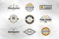 Vintage Creative Industry Logos by Vintage Type Co. on @creativemarket