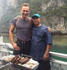 Tom Hiddleston on the set of Kong: Skull Island. Via Torrilla (https://twitter.com/daisy_104/status/860570143457296385 )