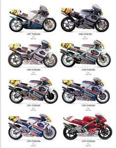 Honda NSR500 1987 - 1994 Futuristic Motorcycle, Retro Motorcycle, Motorcycle Bike, Motogp Teams, Course Moto, Gp Moto, Moto Cross, Bike Engine, Honda Bikes