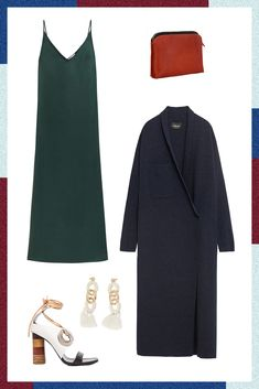What To Wear To Every Spring Wedding #refinery29 http://www.refinery29.com/wedding-guest-outfit-ideas#slide-5 The Fancy Hotel WeddingWith this one, it's time to pull out all the stops — but that doesn't mean you have to wear a cookie-cutter, prom-style dress. A minimalist slip is effortlessly sexy and is ideal for accessorizing with statement-makers, like a bold earring and unexpected heel. Top the look off with a classic, longline coat (just in case things get chilly), and a...