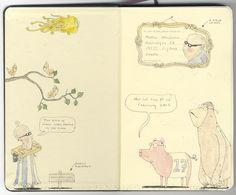 Sketchbook 21 by Mattias Adolfsson, via Behance
