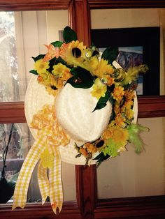 Summer hat.  Added sunflowers, butterflies, frog, bow, birds and other cute embellishments.  More at https://www.facebook.com/Moje-vence-995508700482994/