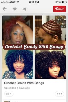 Crochet with bangs