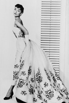 Audrey Hepburn in Givenchy, 1954, Sabrina, Costumes by Hubert de Givenchy