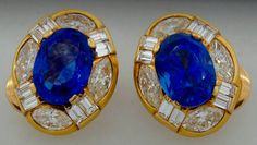 Bvlgari Sapphire and Diamond Earrings