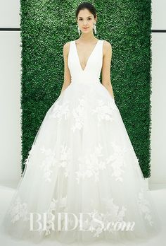 Finding the one—the perfect wedding dress—is where it all starts! Everything you need to know about wedding dress shopping is at your fingertips right here. Spring 2017 Wedding Dresses, Wedding Dresses Photos, Wedding Dress Trends, Long Wedding Dresses, Wedding Dress Shopping, Wedding Dress Styles, Bridal Dresses, Wedding Gowns, Reception Dresses