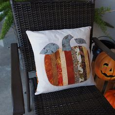 Beautiful fall pillow by Terryt1955 at Threadbias!