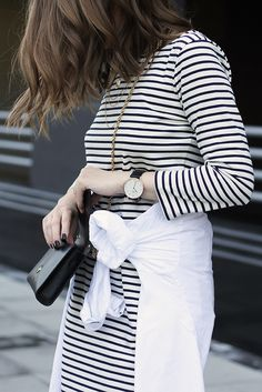 Fashion and style: Stripped dress