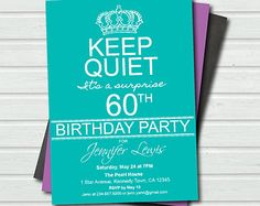 surprise 60th birthday invitation templates free - Google Search ...