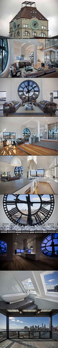 clock tower turned penthouse