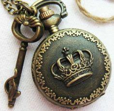 antique crown pocket watch