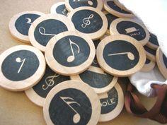 Wood Music Memory Matching Game, Montessori home school educational. $14.00, via Etsy.