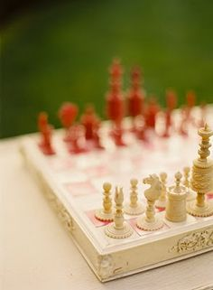 chess set, photo by Jose Villa