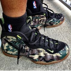 Nike foamposites camo these comin out this week daddy want these bad