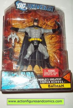 dc universe classics BATMAN grey black world's greatest super heroes mattel toys action figures moc mip mib new