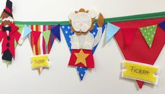 Circus themed bunting banner decoration   https://www.etsy.com/uk/shop/Bettybuntings