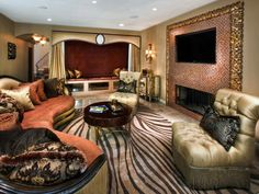 Elegant Entertainment Center- Never would have thought of doing something like this, but how beautiful!