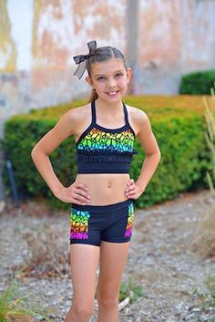 7341fd792e130 Rainbow Peace Sign Crop Top – Lexi-Luu Designs Inc. Online Store Dance Wear