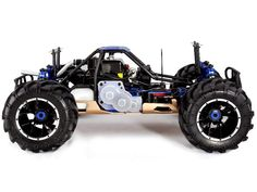 RAMPAGE MT V3 1/5 SCALE GAS MONSTER TRUCK BY REDCAT | BLUE SIDE VIEW