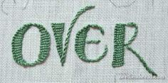 Buttonhole stitch for letters. Nice. Source: http://www.needlenthread.com/2009/11/hand-embroidery-lettering-text-6.html