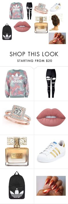 """shcool night"" by sarah-gurl29 ❤ liked on Polyvore featuring adidas, WithChic, Allurez, Lime Crime, Givenchy and Topshop"
