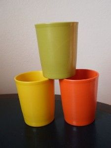 Vintage 70's Tupperware Cups
