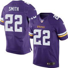 Nike Elite Harrison Smith Purple Men's Jersey - Minnesota Vikings #22 NFL Home