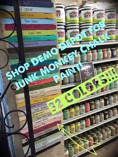 Junk Monkey chalk paint! Always new painting tips, new junk money chalk paint colors, and DIY projects at styleshabby.com!