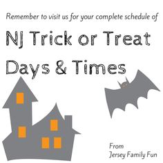 A listing of NJ Trick or Treat times by New Jersey Town and County