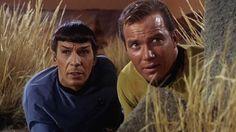 Leonard Nimoy (Mr. Spock) et William Shatner (Captain James T. Kirk)