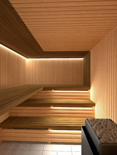 People have been enjoying the benefits of saunas for centuries. Spending just a short while relaxing in a sauna can help you destress, invigorate your skin Sauna Steam Room, Sauna Room, Spa Interior, Interior Design, Le Roch Hotel, Sauna Lights, Modern Saunas, Piscina Spa, Sauna Seca