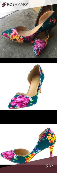 Fun & Flirty d'Orsay Kitten Heels These cute low kitten heels are a chic and sophisticated way to wear heels without adding too much height.   Features a pointed toe and d'orsay side cut out Single sole and stiletto heel.  Approximate heel height 3 inches Shoes Heels
