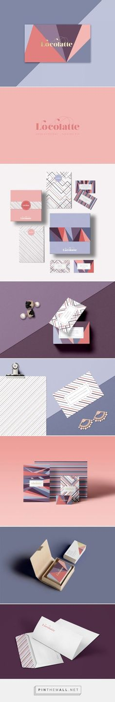 feminine and fashionable. pink and purple, diagonals