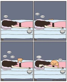 This makes me giggle since my cat does this sometimes :)
