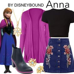 DisneyBound is meant to be inspiration for you to pull together your own outfits which work for your body and wallet whether from your closet or local mall. As to Disney artwork/properties: ©Disney Disney Bound Outfits Casual, Cute Disney Outfits, Disney Dress Up, Disney Themed Outfits, Cute Outfits, Modern Princess Outfits, Disney Princess Outfits, Modern Outfits, Frozen Inspired Outfits