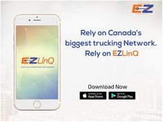Earn more per mile! Register yourself with the EZLinQ app and work with Canada's biggest trucking Network. App Store Google Play, Ipod Touch, Trucks, Iphone, Learning, Canada, Studying, Truck, Teaching
