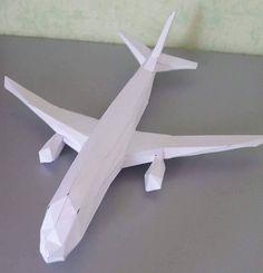 Avion en papier 3D à créer soit même (3D Paper plane DIY do it yourself)